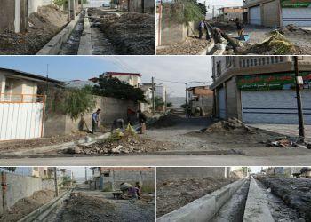 عملیات جدول بندی معابر شهری خیابان مطهری